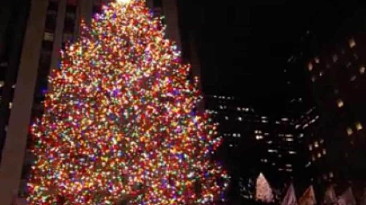 Rockefeller Center Lights 72-foot Tall Christmas Tree