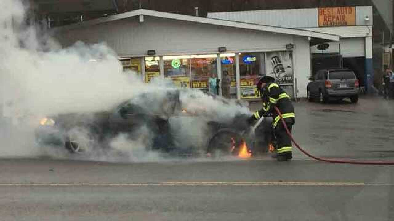 Vehicle Catches On Fire On Nolensville Pike