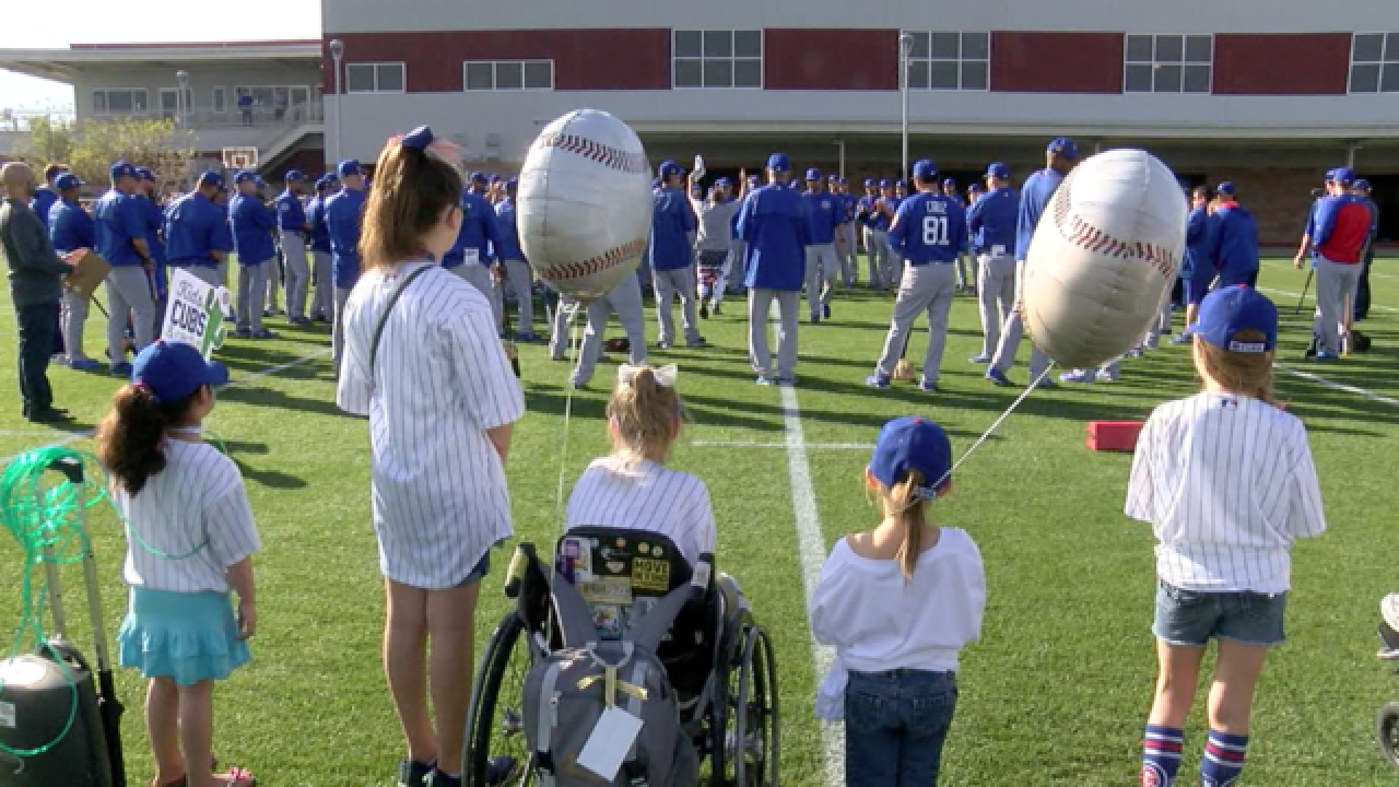 Chicago Cubs Host Hospitalized Kids For Fun Day!