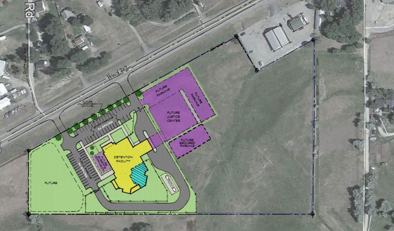 Carbon County map of proposed Jail
