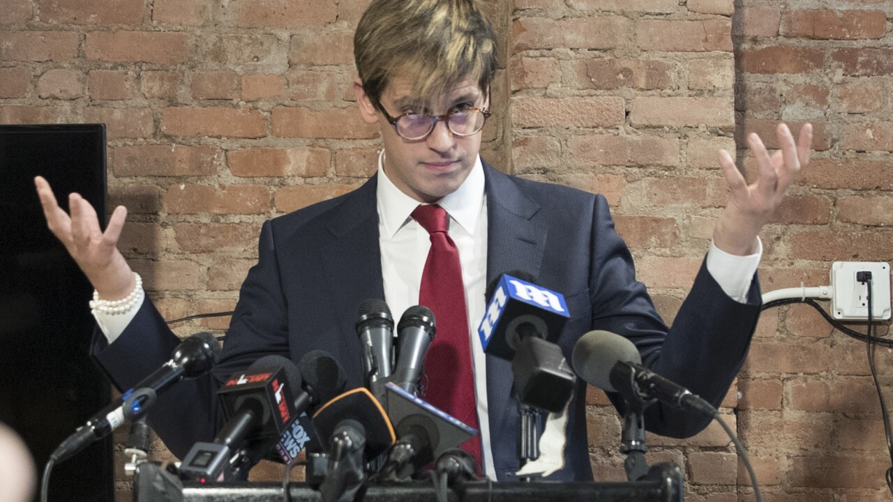 Cool: Controversial speaker Milo Yiannopoulos possibly to speak at TCC, officials say ?url=https%3A%2F%2Fewscripps.brightspotcdn.com%2F67%2Ffa%2F9563217a4706b2fd9a4f18136795%2Fap-18304054075846