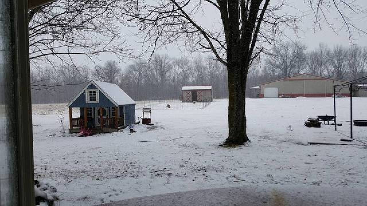 PHOTOS: Central Indiana gets hit with rain, snow