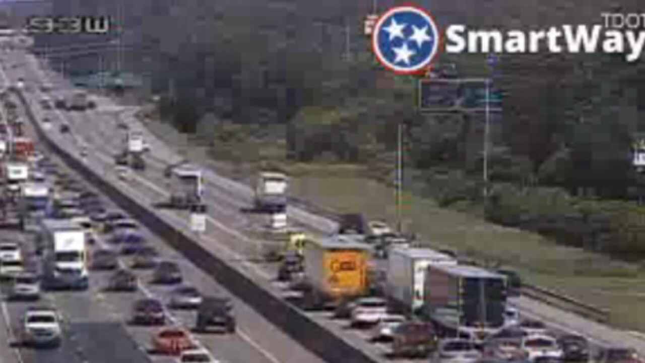 8 Vehicles Involved In I-24 Crash