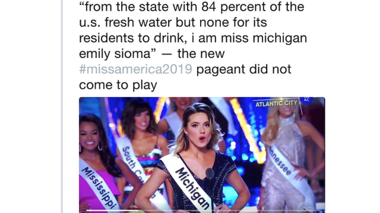 Miss Michigan calls out Flint water crisis at Miss America pageant
