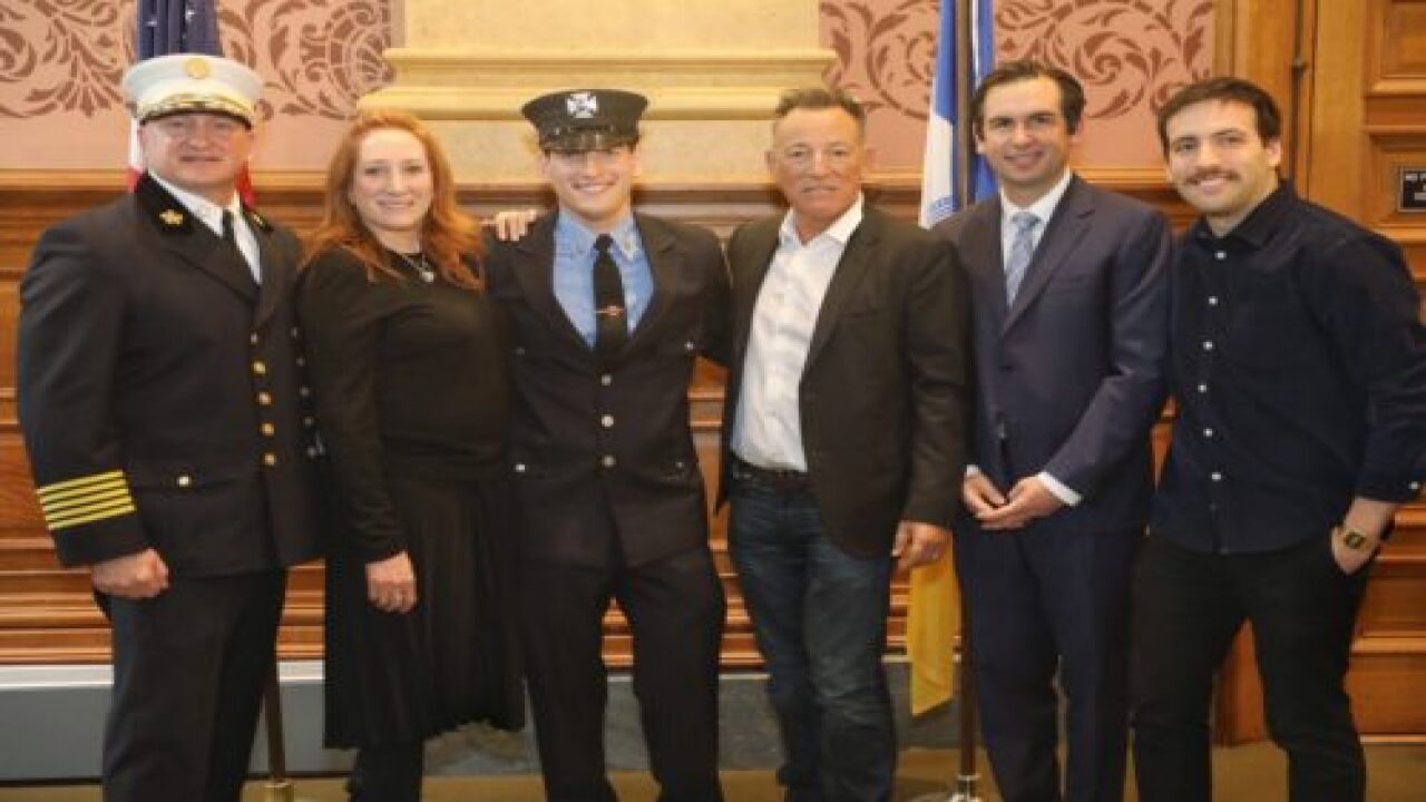 Bruce Springsteen's Son Was Just Sworn In As A New Jersey Firefighter