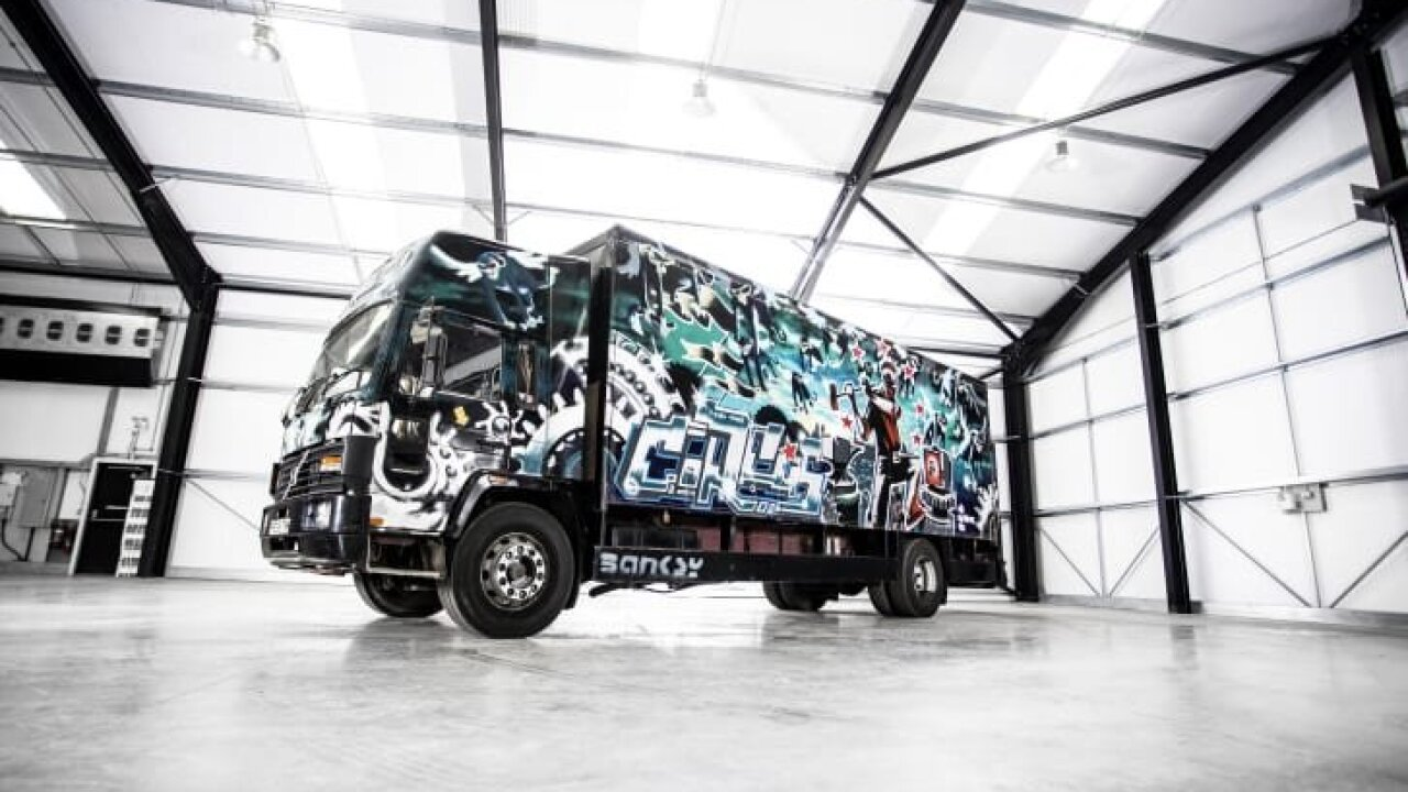Old Volvo van graffitied by Banksy could sell for $1.8 million at auction