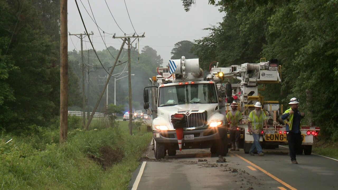 Car accident causes morning power outages in Virginia Beach
