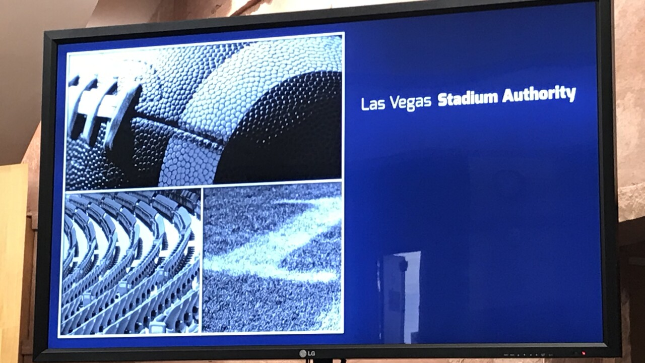 The Stadium Authority received a progress report on the $1.97 Billion dollar Allegiant Stadium, which remains on budget and on target to open in July