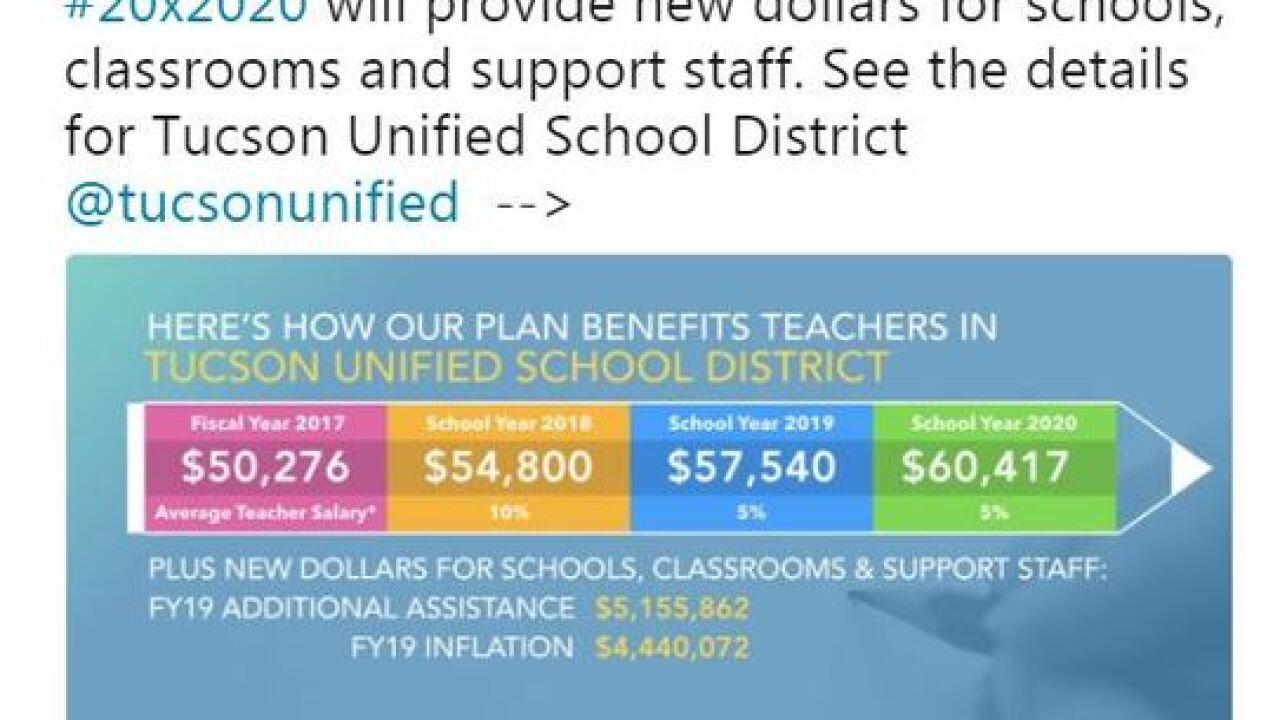 TUSD teachers dispute Governor's tweet on pay