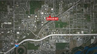 Billings Officer hit by fleeing vehicle