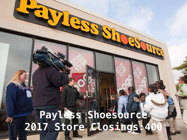 17 major retailers closing stores in 2017