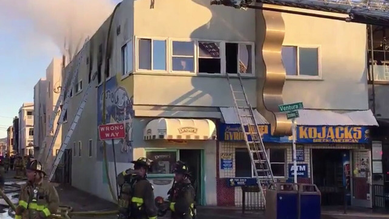 Structure fire erupts near Belmont Park