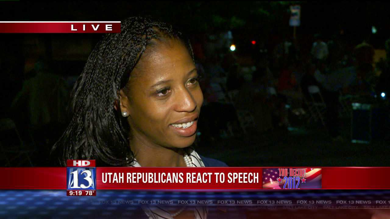 Mia Love holds Mitt Romney viewing party