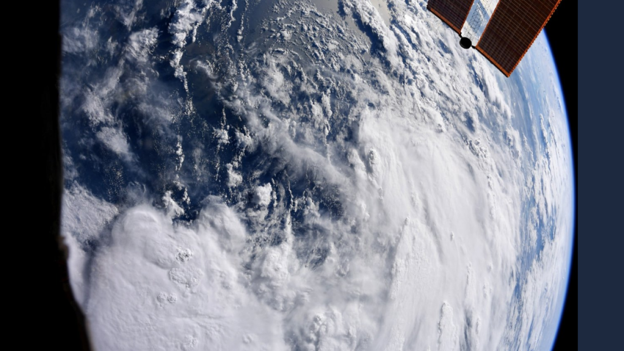 Tropical Storm Barry as seen from space