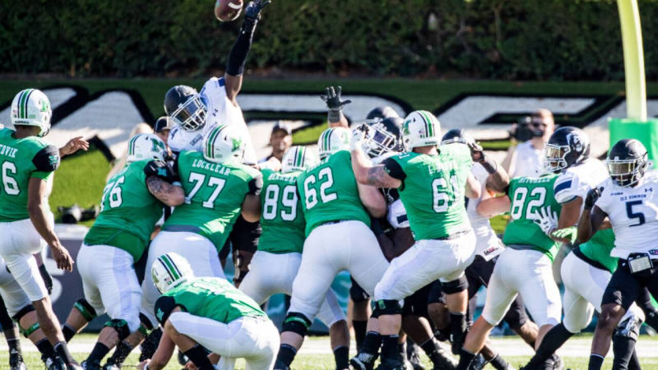 ODU loses fourth straight with road loss to Marshall35-3