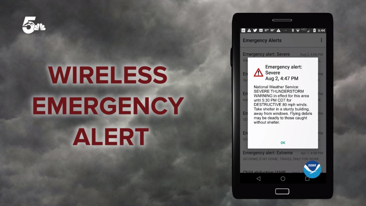 WEA Wireless Emergency Alert
