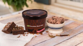 Blue Bell Ice Cream Chocolate Sheet Cake - Press Shot