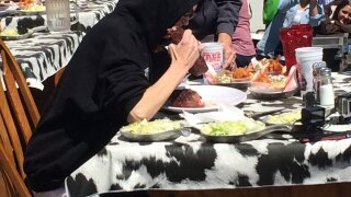 Photos: Woman breaks record eating over 13 lbs. of steak in 20 minutes