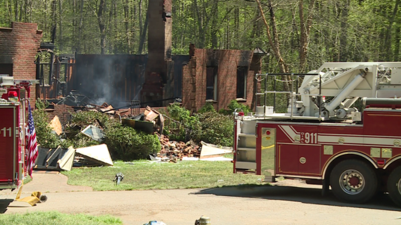 Explosion heard as 8,000-square-foot Goochland home burned to the ground