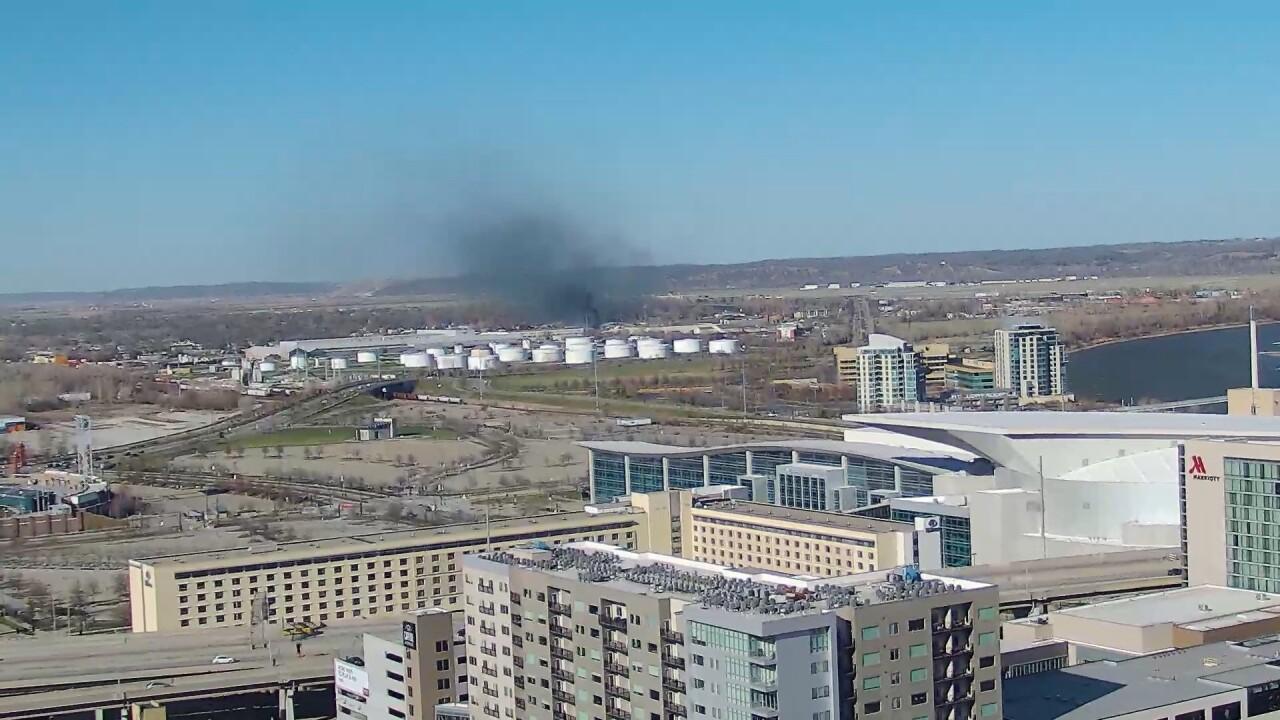 KMTV World-Herald Camera | Fire in Carter Lake