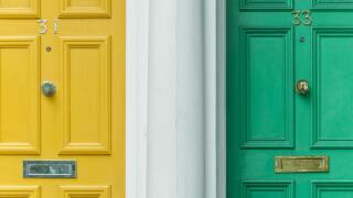front doors_stock image
