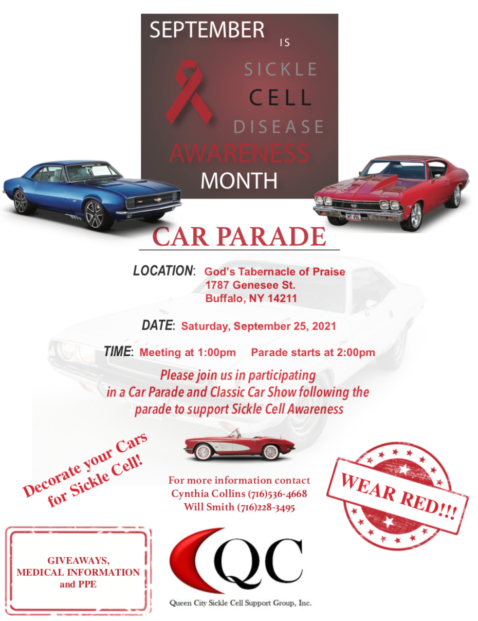 Queen City Sickle Cell Support Group will host a parade Sept. 25