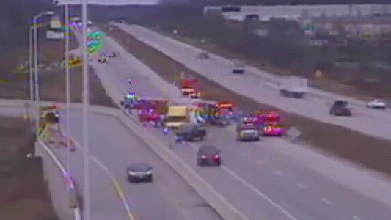 'Serious injuries' reported after truck rear-ends semi on I-43 NB near Moorland Rd.