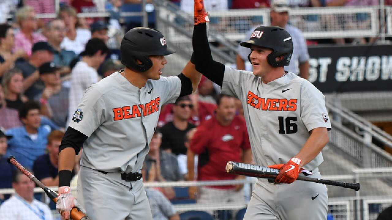 College World Series: Oregon State downs Arkansas to win CWS Championship Series