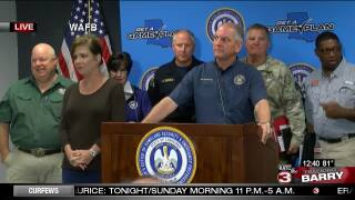 Gov Edwards press conference - Barry