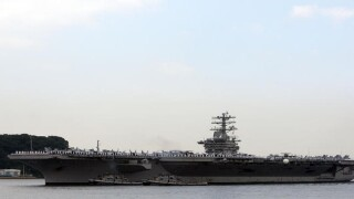 USS Nimitz pilot forced to eject after engine malfunction