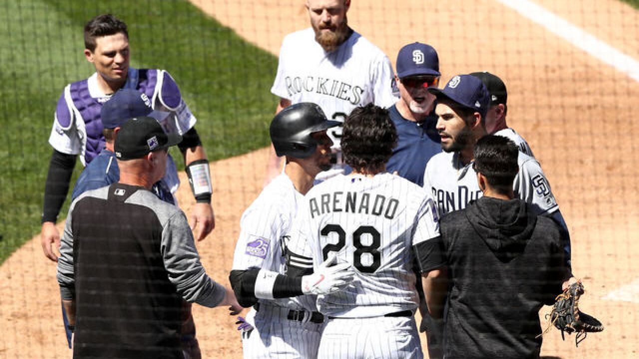 Nolan Arenado believes he 'was thrown at' as melee erupts at Coors Field