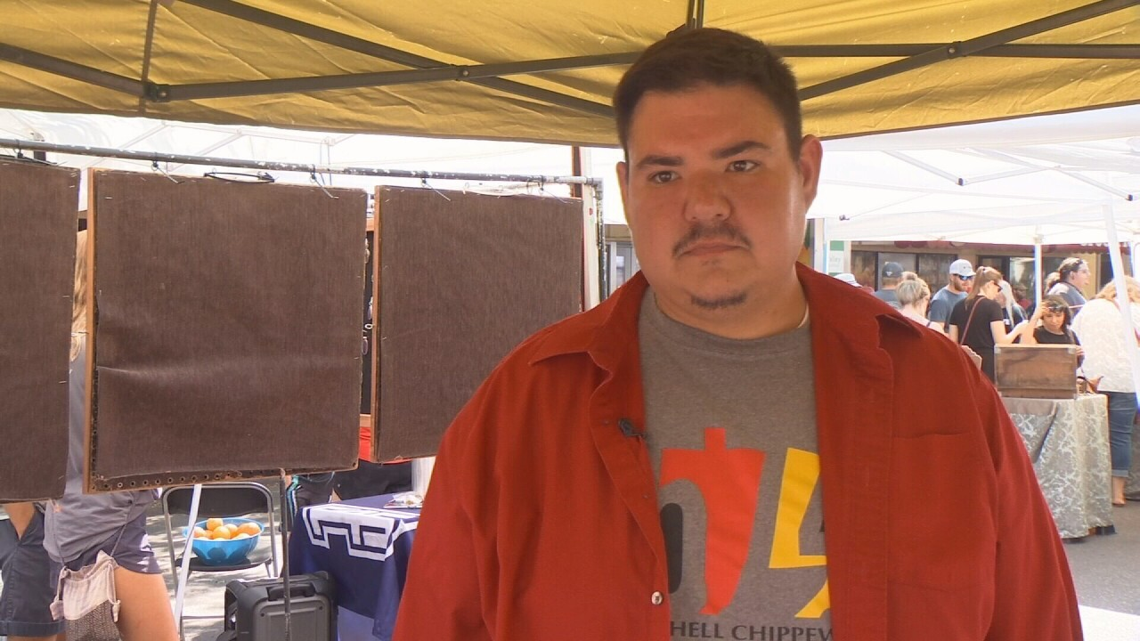 Jerrid Gray, a Billings artist, sold art at the Strawberry Festival