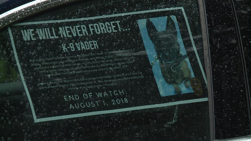 Photos: Memorial service planned for K-9 officer Vader killed in line of duty