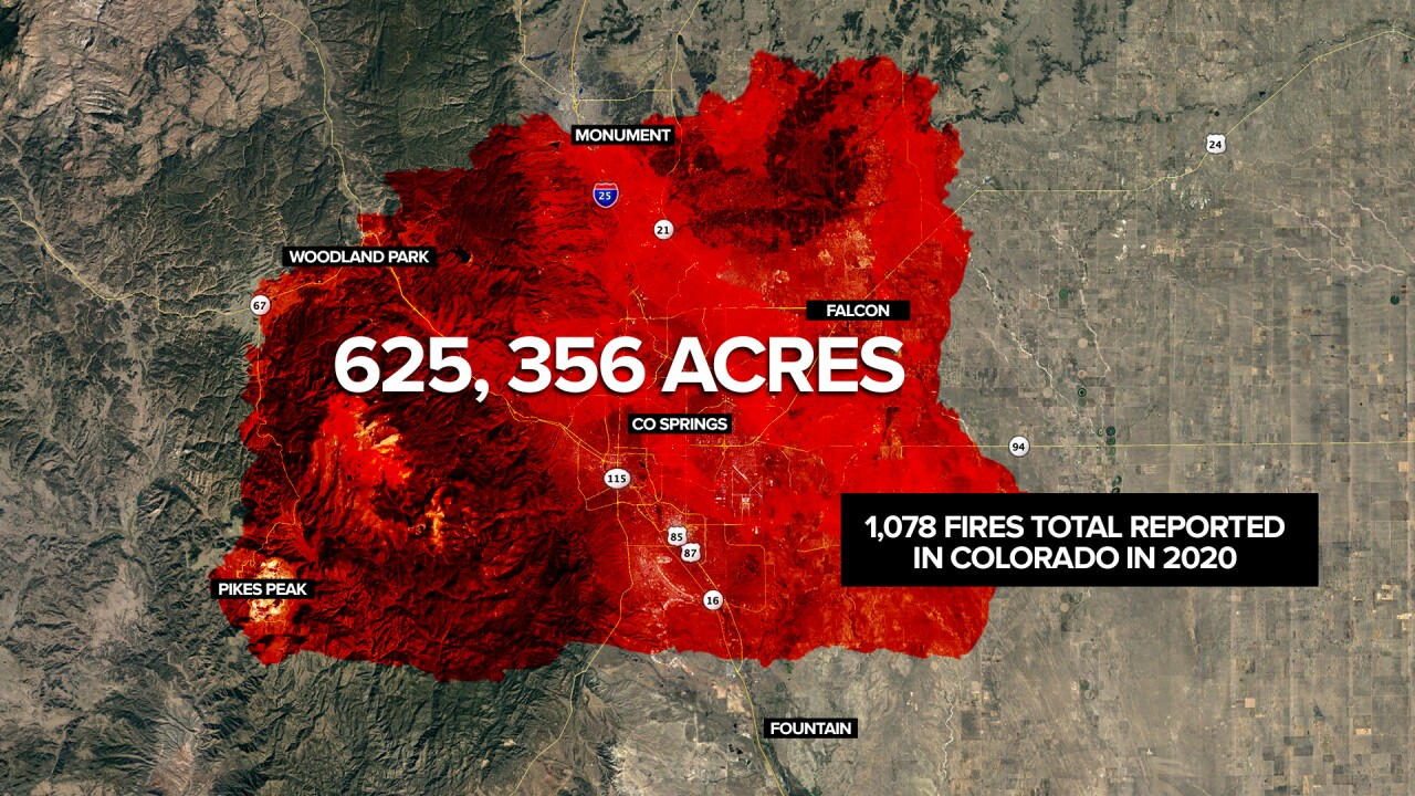 2020 Colorado wildfires burned more than 625,000 acres