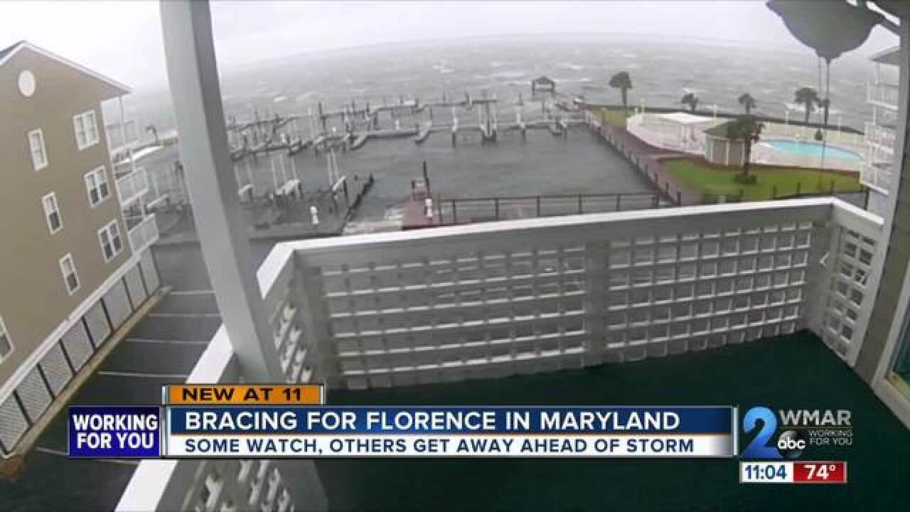 Bracing for Florence from Maryland