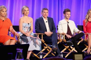 TV personalities Julie Chrisley, Savannah Chrisley, producer/TV personality Todd Chrisley, and TV personalities Chase Chrisley, and Lindsie Chrisley speak onstage during the 'Chrisley Knows Best' panel at the 2016 NBCUniversal Summer Press Day at Four Seasons Hotel Westlake Village on April 1, 2016 in Westlake Village, California.