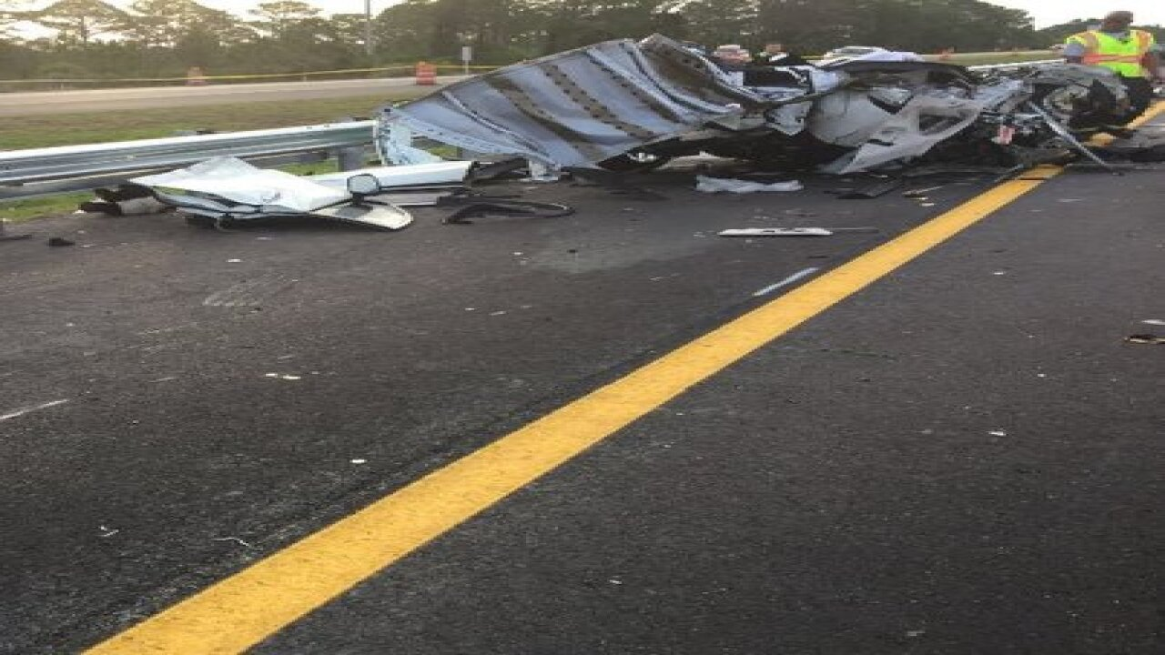 Three people killed in crash on I-75 in Sarasota County on Sunday