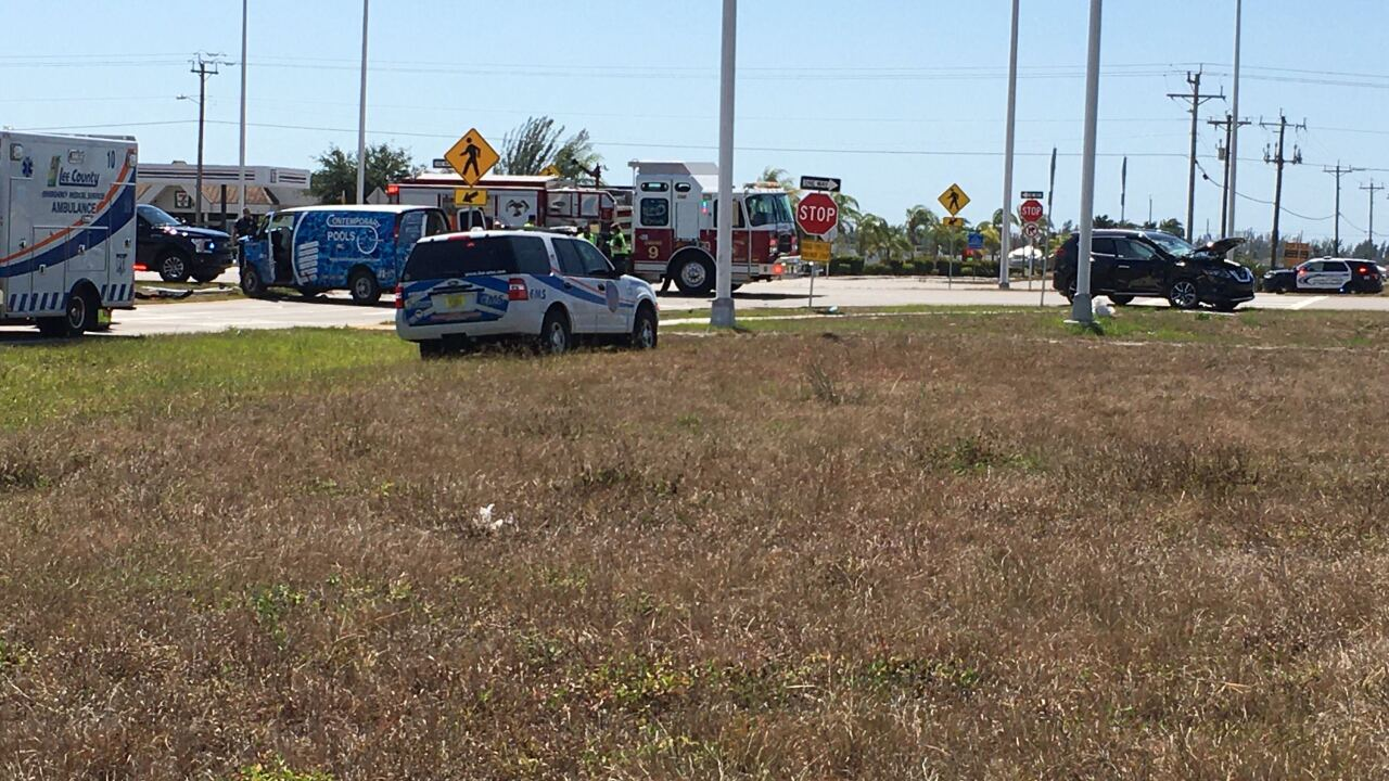 Serious crash at Burnt Store Rd. and Tropicana Pkwy.