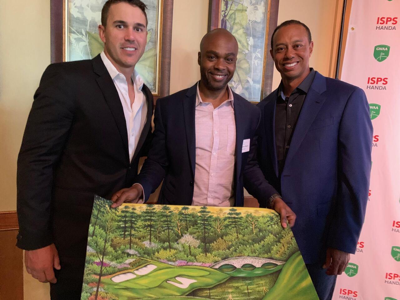 Tiger Woods and Valentino Dixon