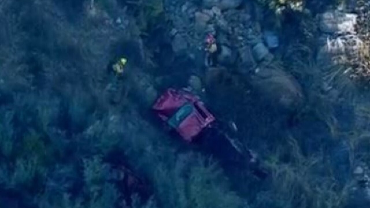 1 dead after vehicle plunges off I-8 bridge in Pine Valley ...
