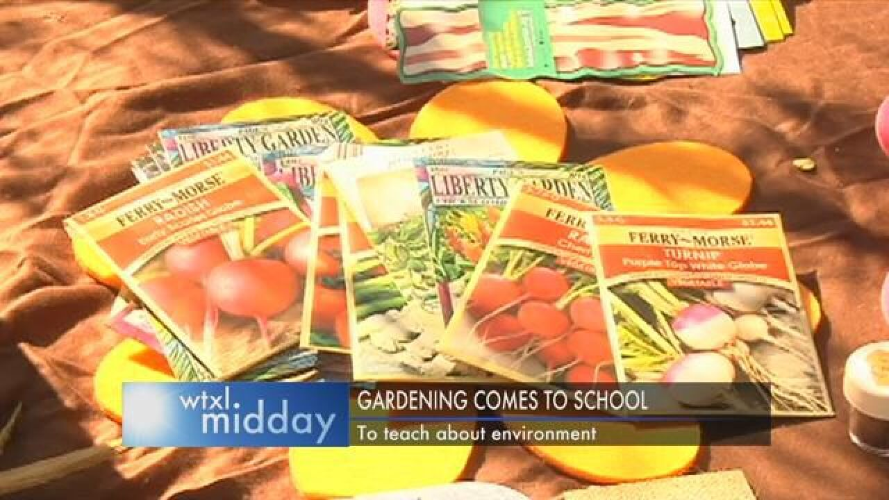 Farming the Future Works with Students at Apalachee Elementary