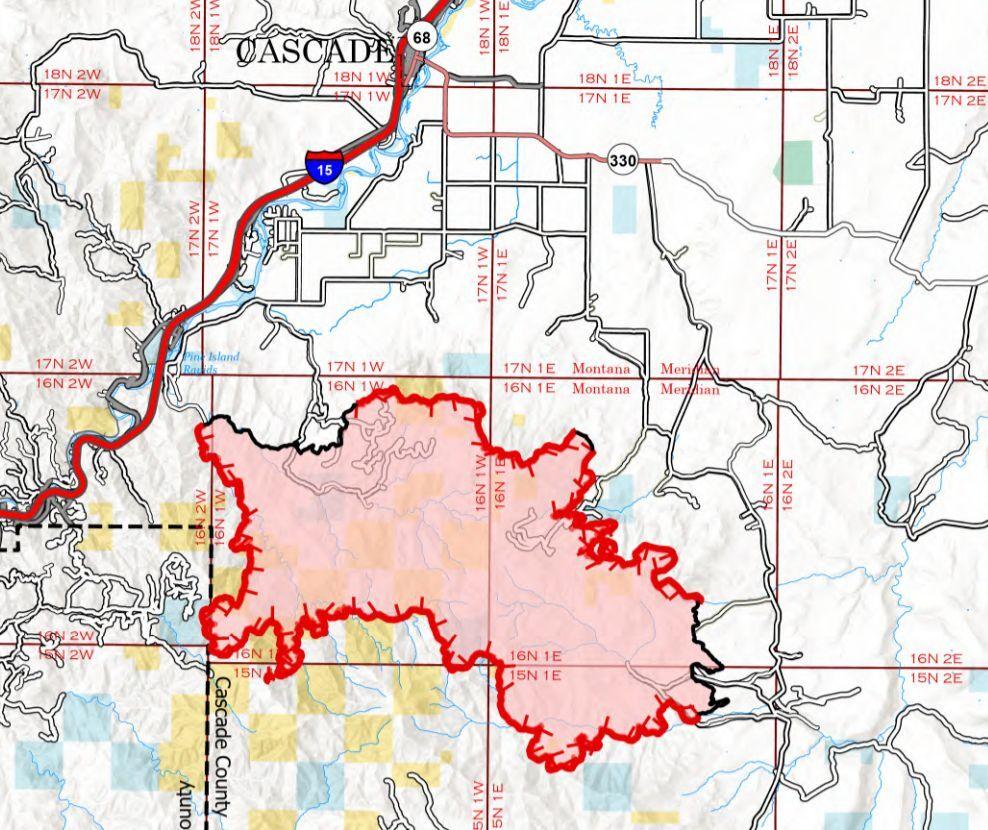 harris mountain fire perimeter august 1