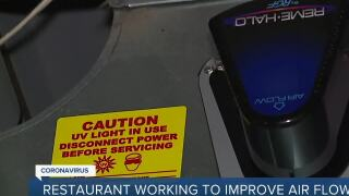 Restaurants working to improve air flow to keep diners safe