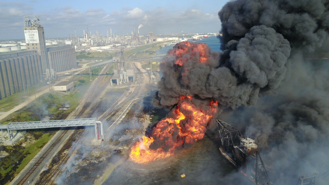 Firefighters respond to major fire along refinery row