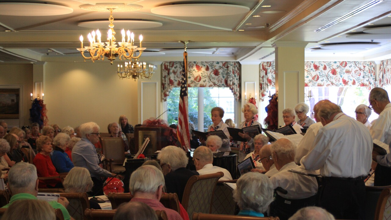 Senior singers at local retirement community salute soldiers on Veterans Day