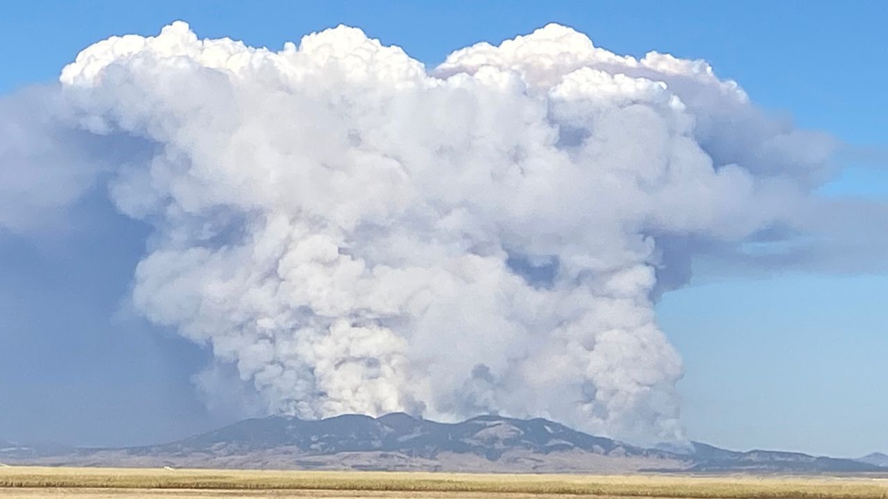 South Moccasin Fire burning in Fergus County