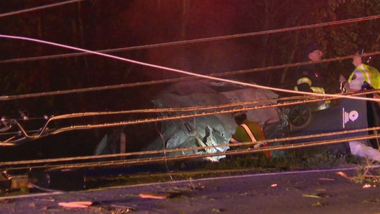 Fiery Crash Knocks Down Power Pole, Closes OHB