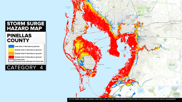 Hurricane Irma Bay Area Storm Surge Maps The tampa bay area is a major populated area surrounding tampa bay on the west coast of florida in the united states. hurricane irma bay area storm surge maps