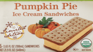Pumpkin Pie Ice Cream Sandwiches Are The Perfect Treat For Warm Early Fall Days