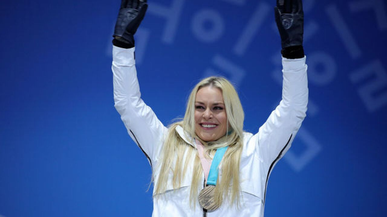 Lindsey Vonn takes bronze in likely last Olympics downhill race